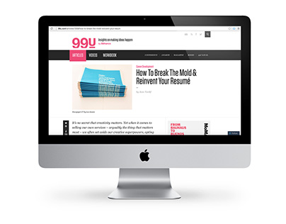 99U Article: How to Get Hired...