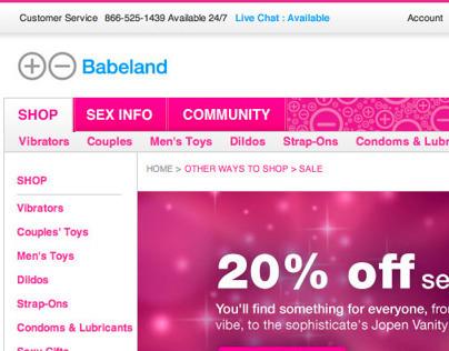 Babeland.com | website redesign