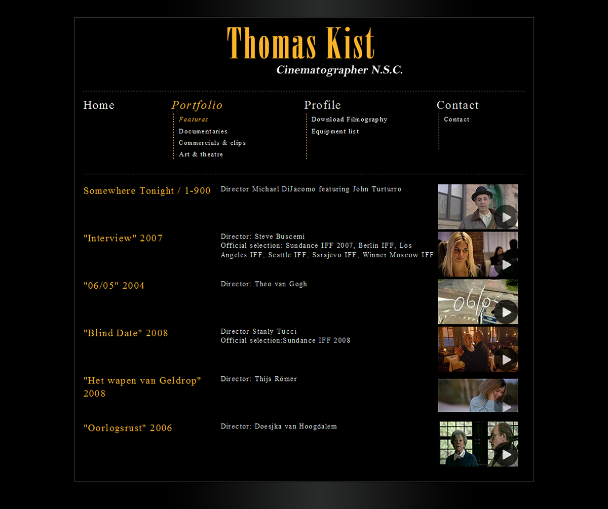 Thomas Kist ~ portfolio website