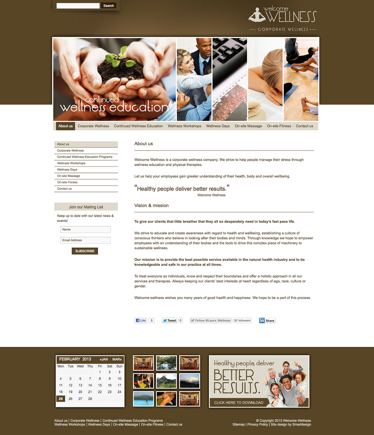Design and Development of the Welcome Wellness Website