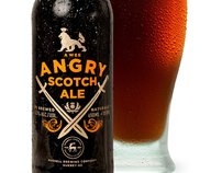 Russell Brewing - A Wee Angry Scotch Ale - Label Design