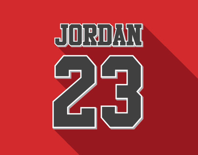 Flat Icon Design - M. Jordan LEGEND PROJECT