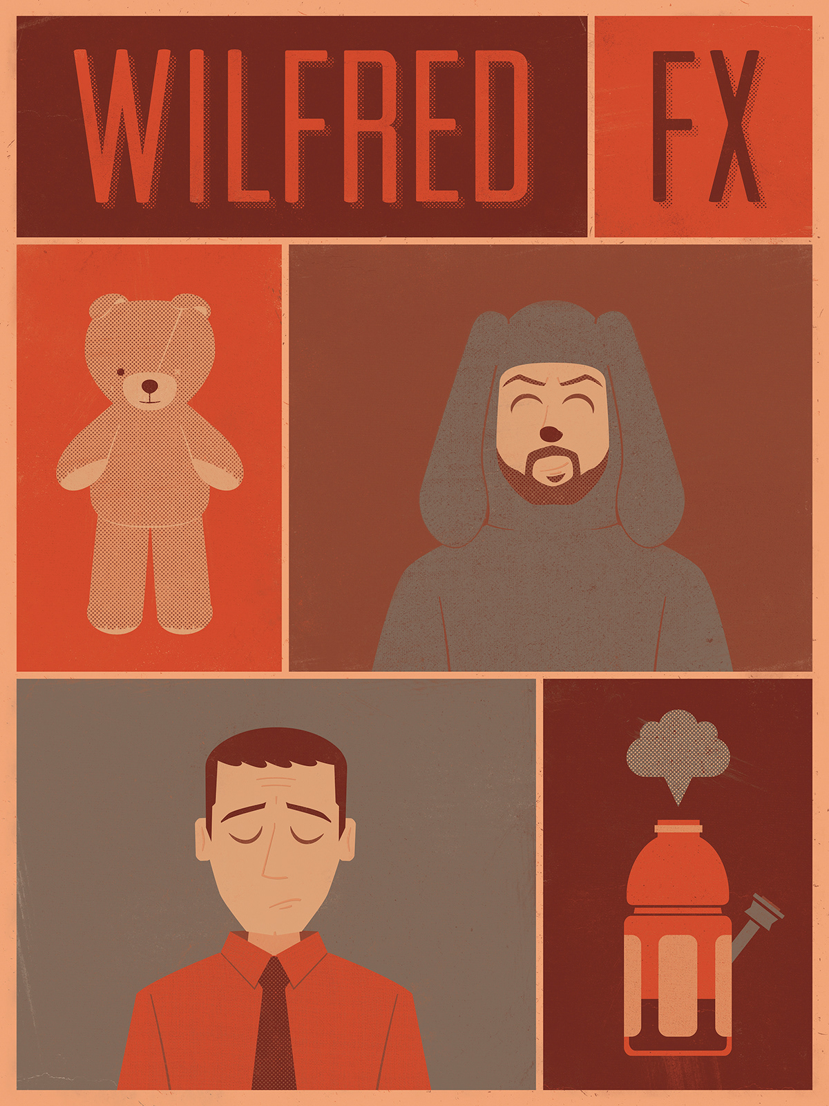 Wilfred FX Illustrated Poster