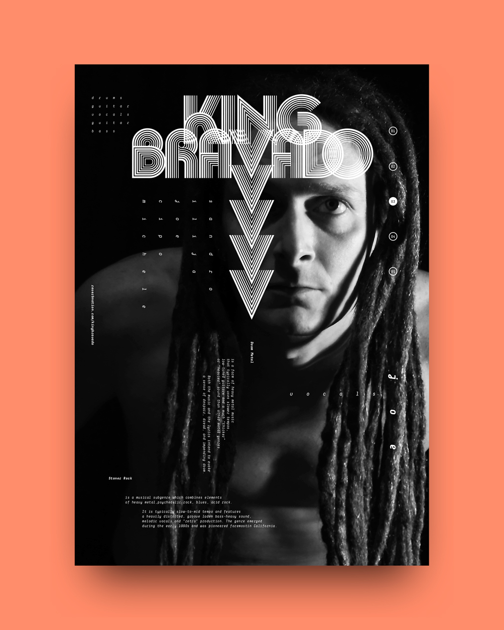 KING BRAVADO — ATOMIC STONER ROCK