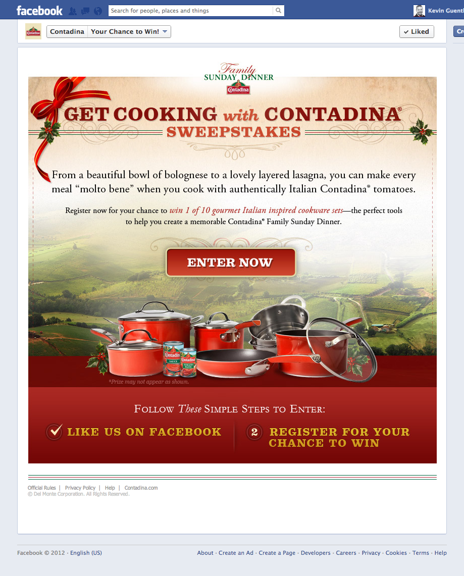 Contadina®, Facebook Marketing Campaign