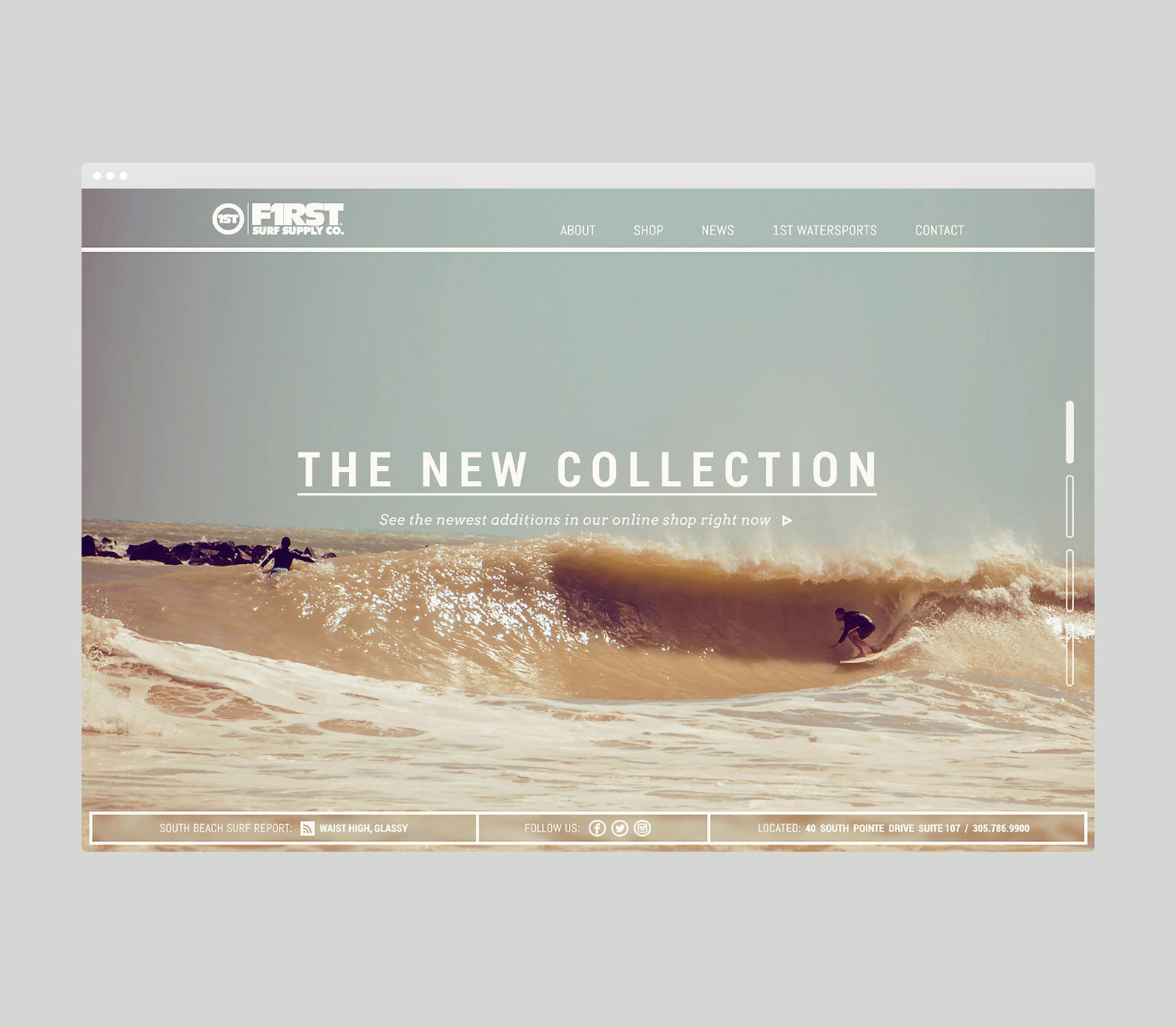 F1RST Surf Shop Website