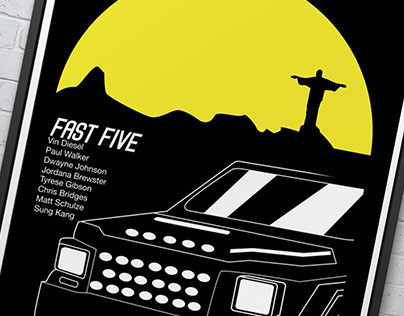 Fast & Furious minimalist movie posters