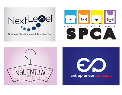Logo designs for various agencies and programs.