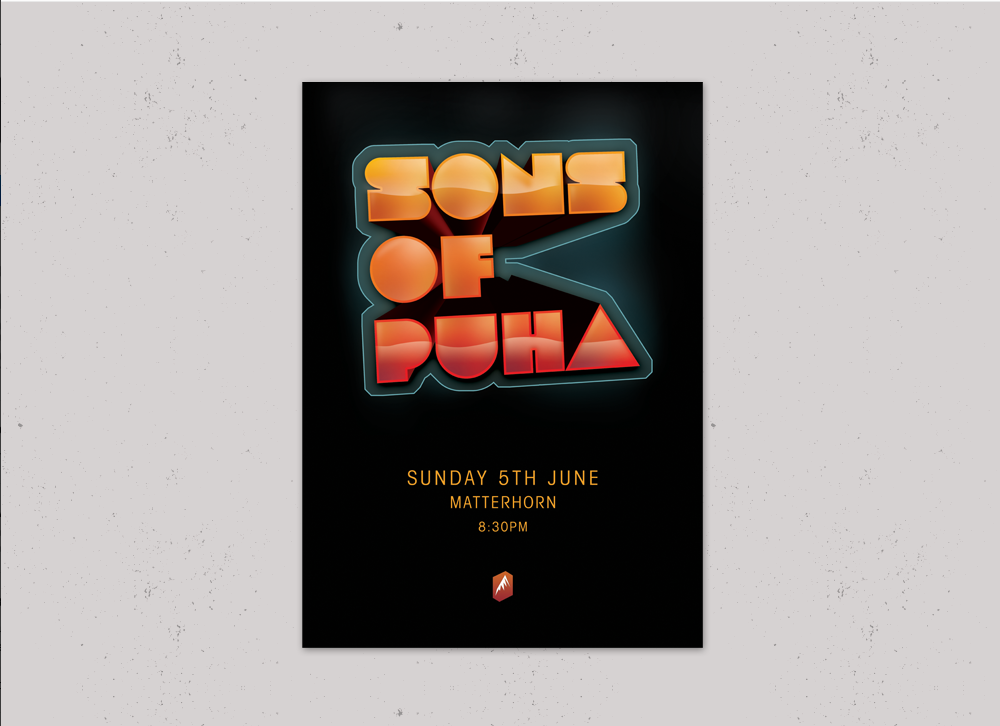 Sons of Puha - Gig posters