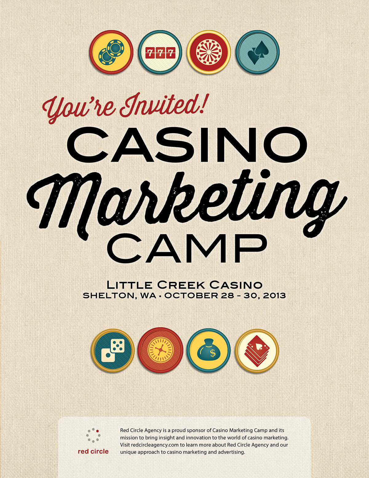 Casino Marketing Camp | Red Circle Agency | 2013