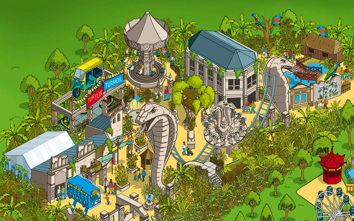 2014 Chessington World of Adventures Theme Park Map