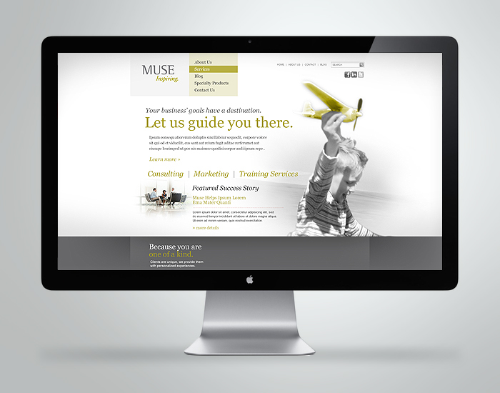 MUSE homepage redesign