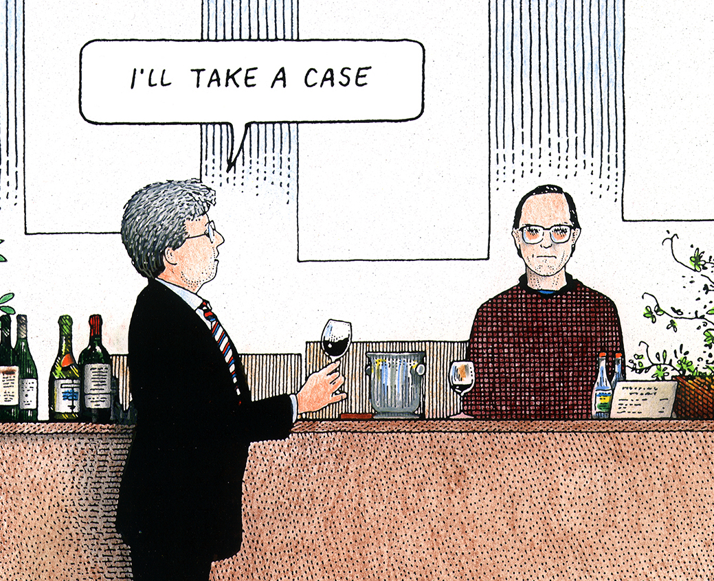 S.F. PACIFIC WINE COMPANY Wine Cartoons