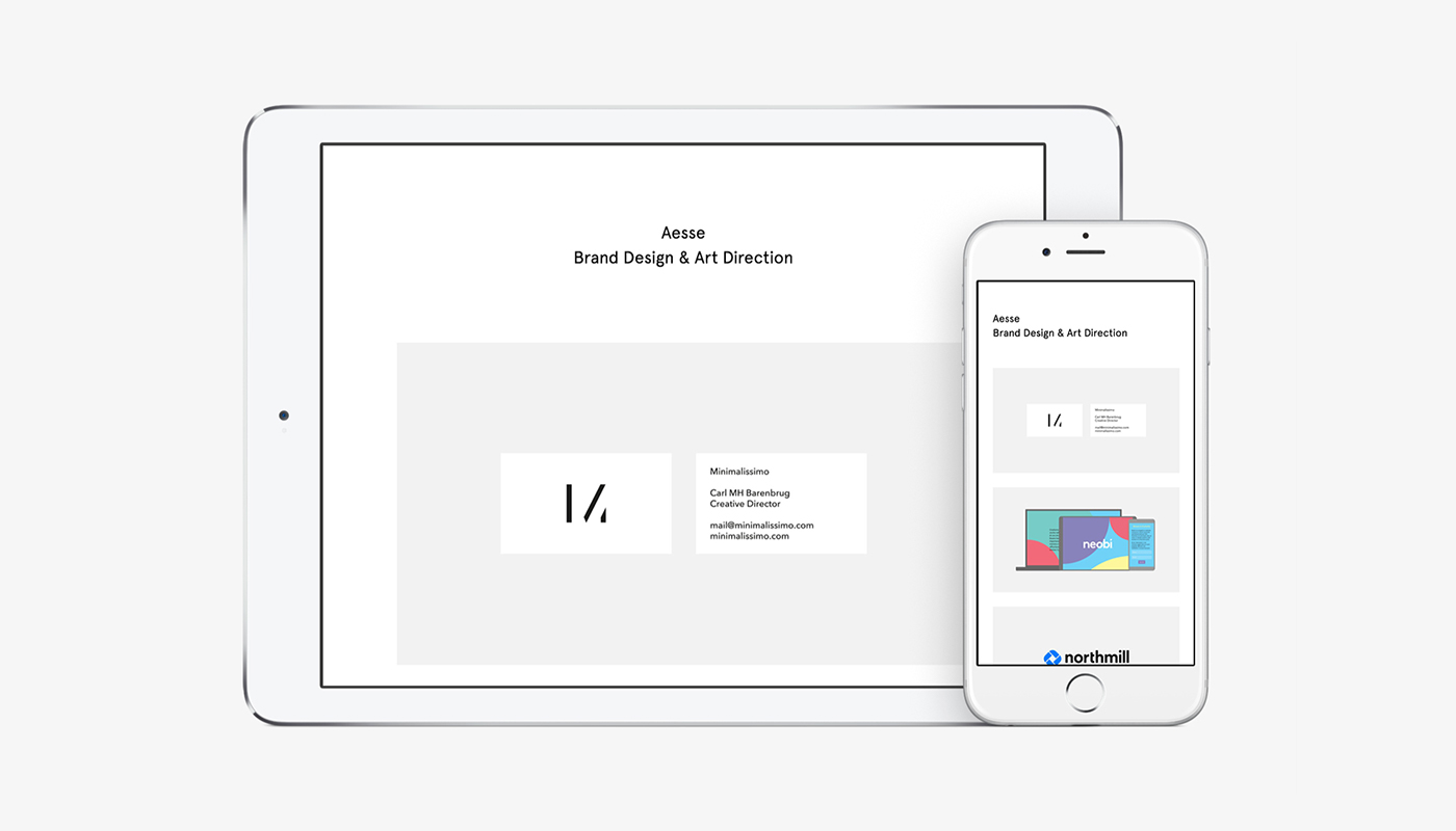 Aesse · Identity and Web site.