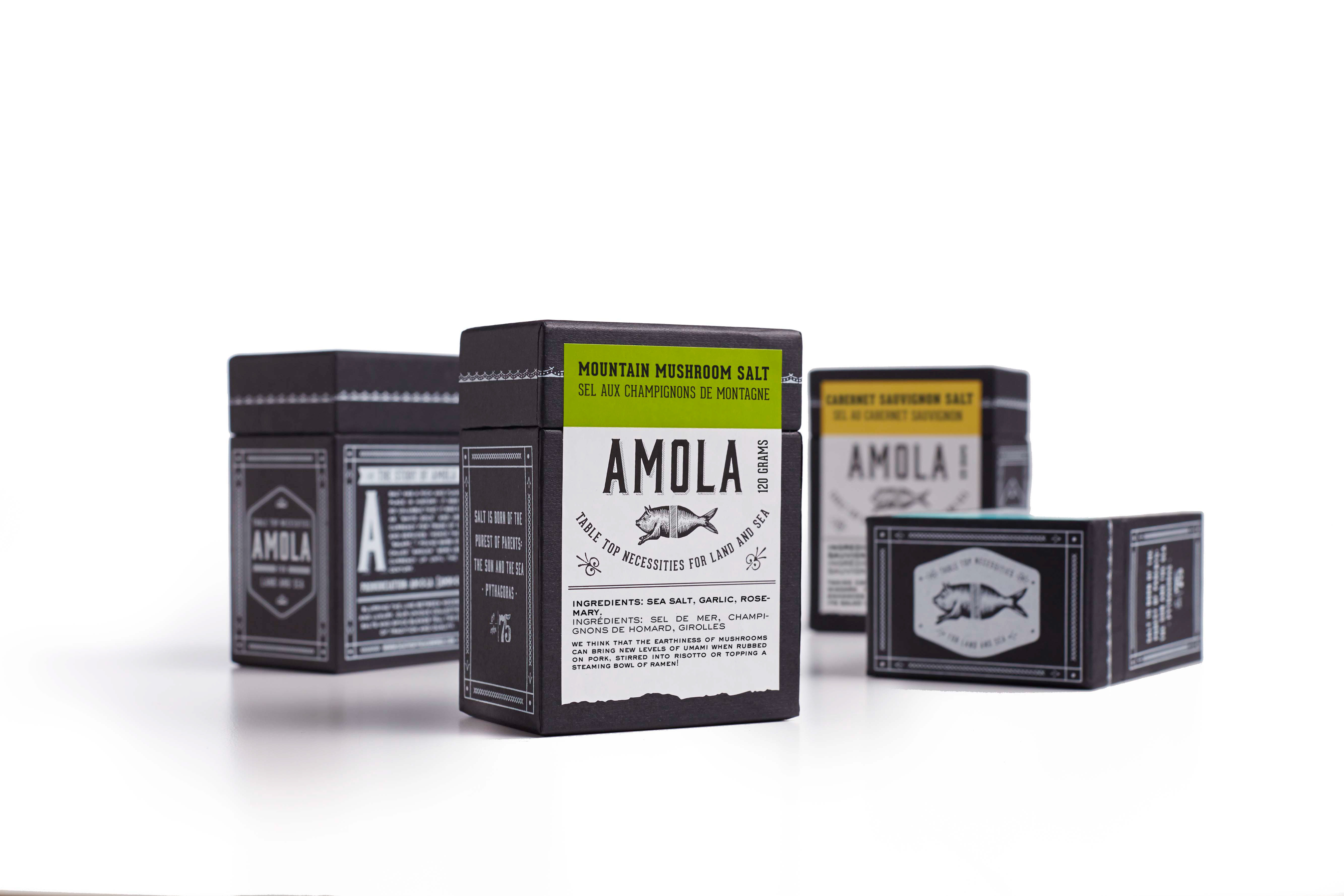 Amola Salt Rebranding & Packaging