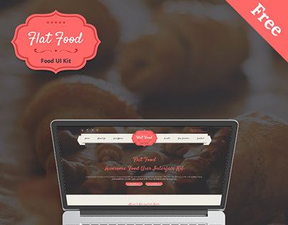Flat Food - Awesome Food User Interface Kit