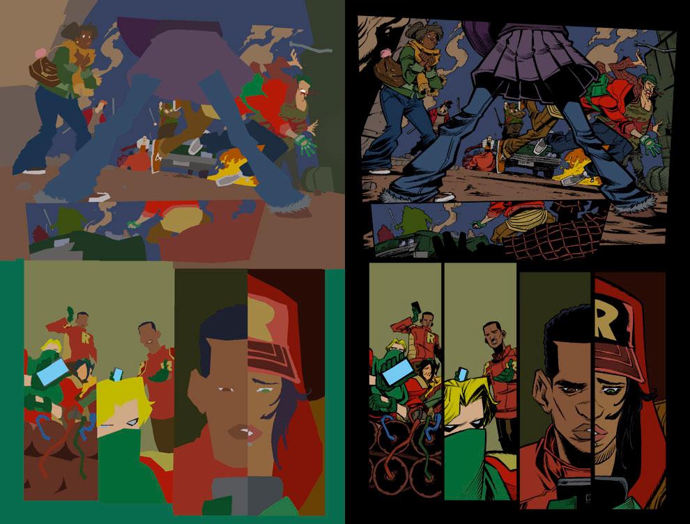 Comic Coloring Portfolio