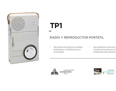 Graphic interface — BRAUN TP1