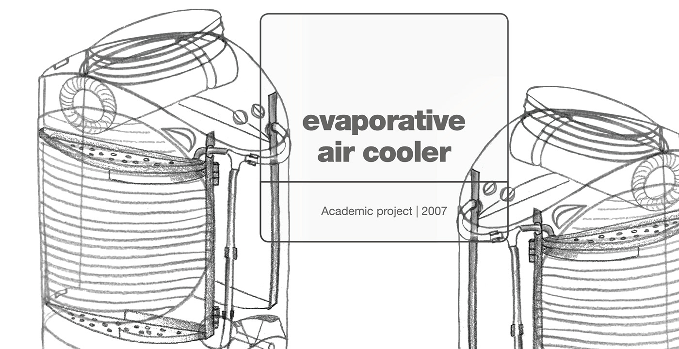 Design of an Evaporative Air Cooler