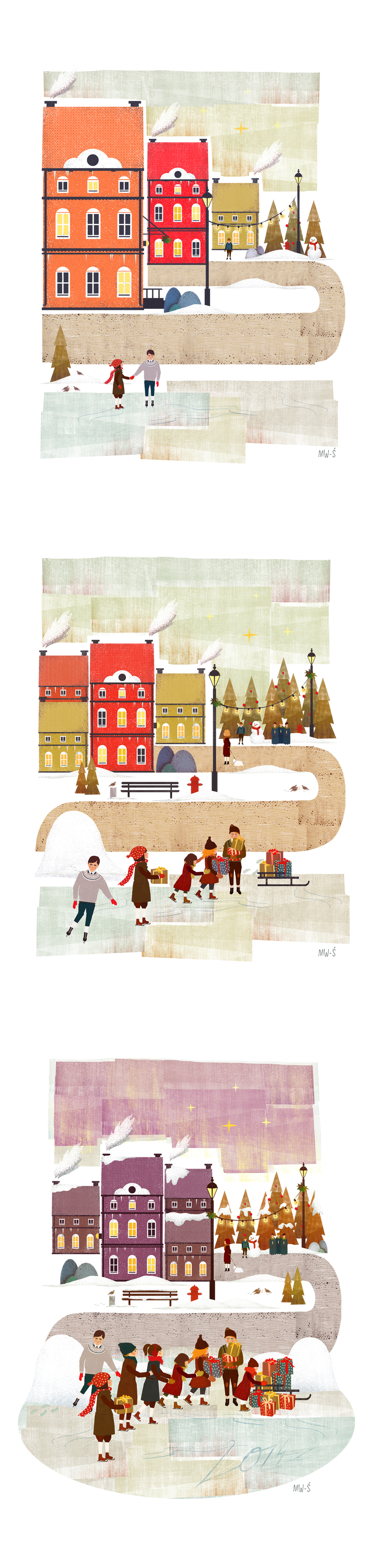 CHRISTMAS ILLUSTRATIONS - BGK