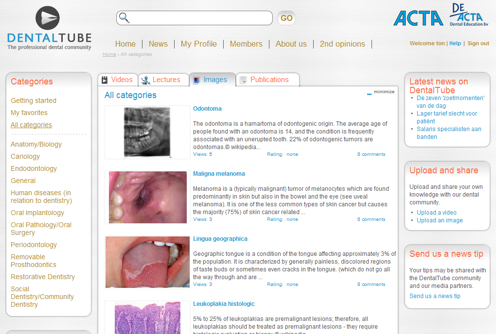 DentalTube ~ community website