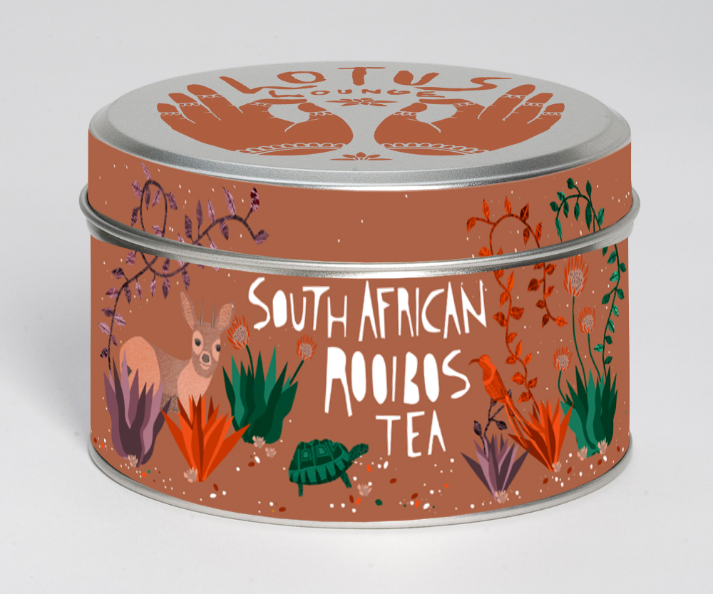 Lotus Lounge Tea | brand identity and packaging |