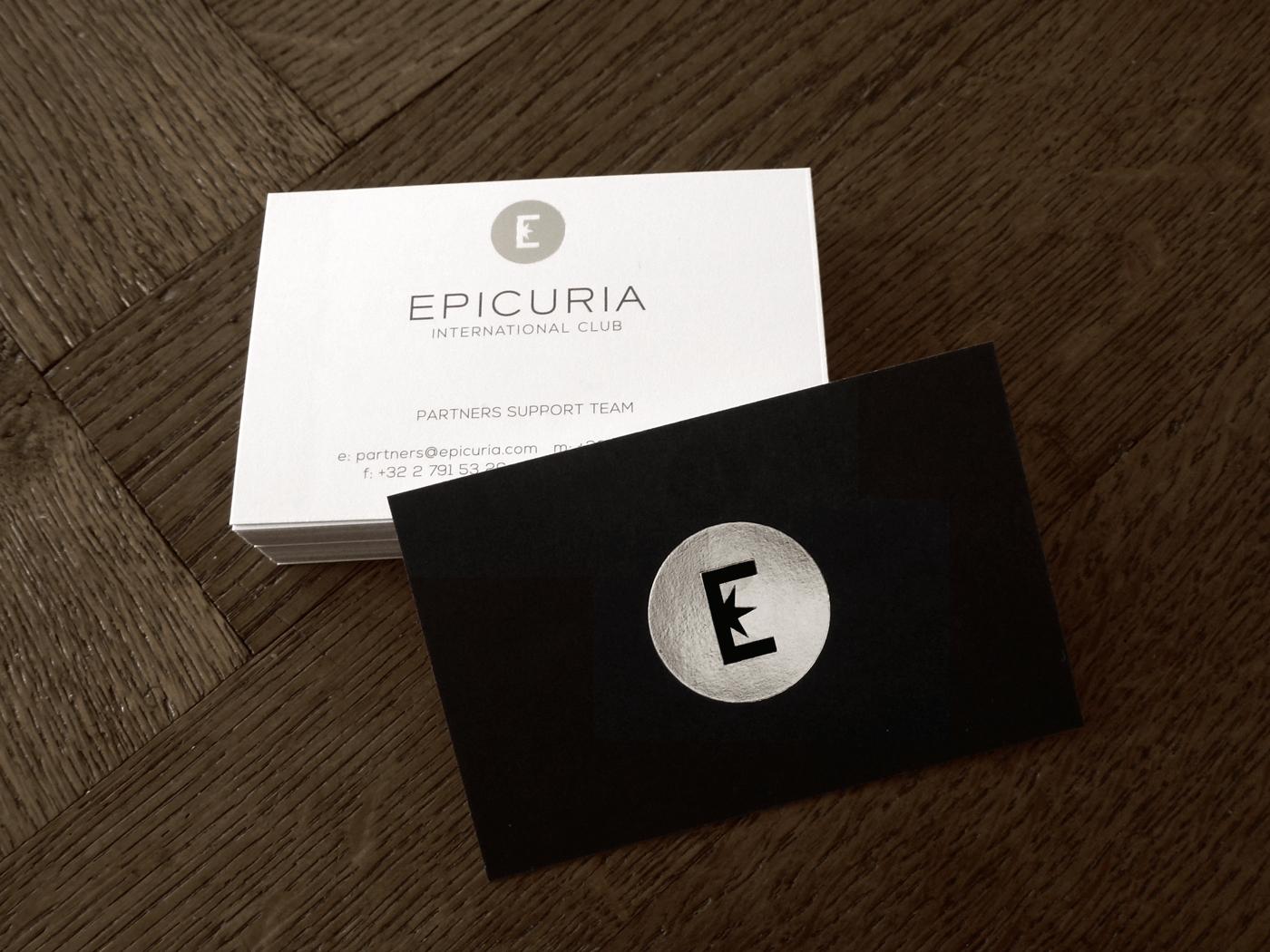 Epicuria high-end club brand identity