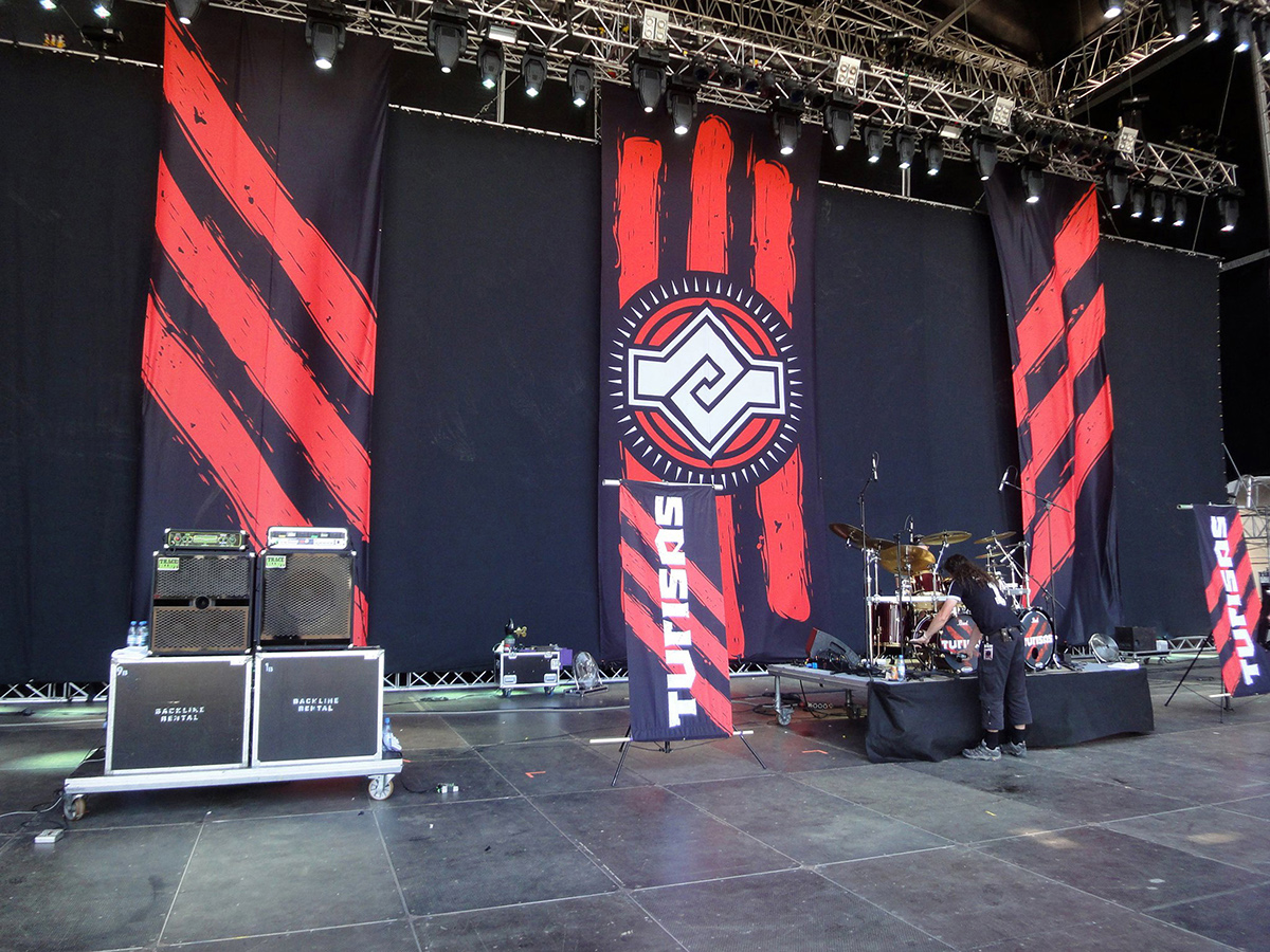 Turisas - Stage Backdrop