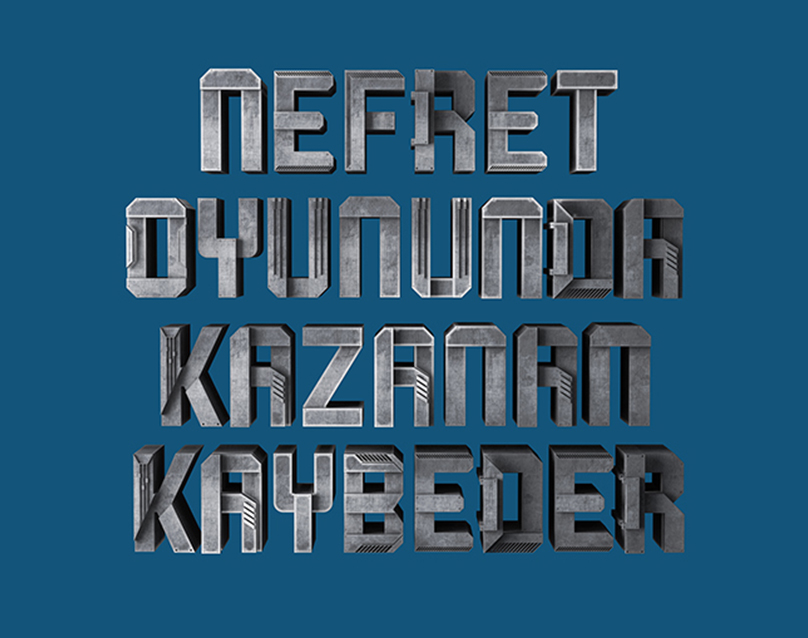 Typography for Football Machine