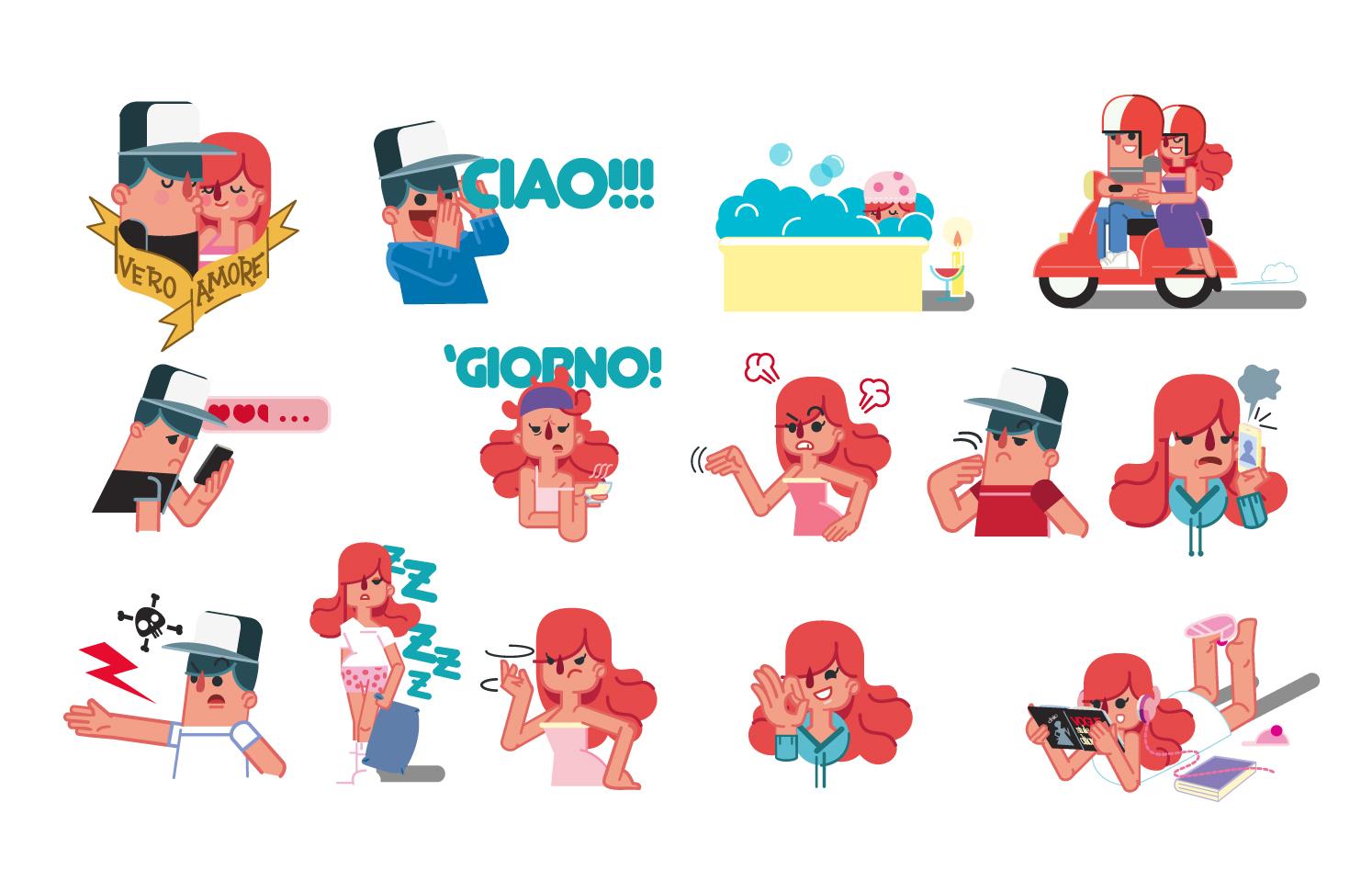 LOLLO&SOFIA for Line stickers
