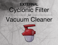 External Cyclonic Filter for Vacuum Cleaner