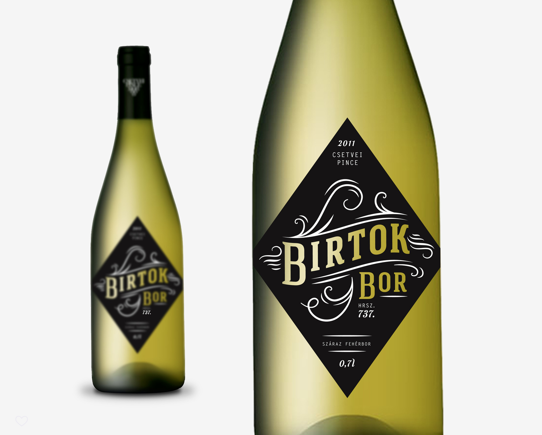 Wine label / Birtok bor hrsz. 737.