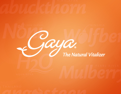 Gaya, The Natural Vitalizer– Identity and Brand