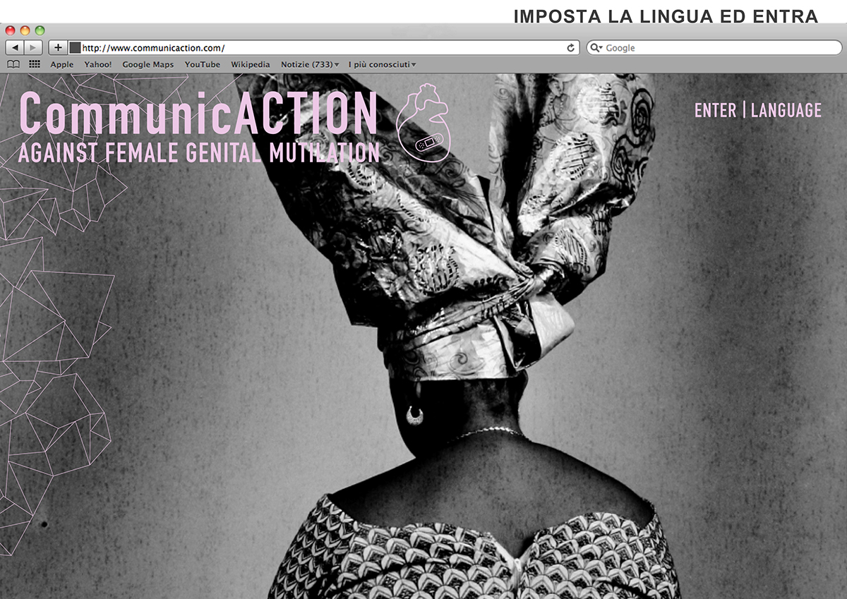"Layout sito web progetto ""CommunicACTION: AGAINST FGM"""