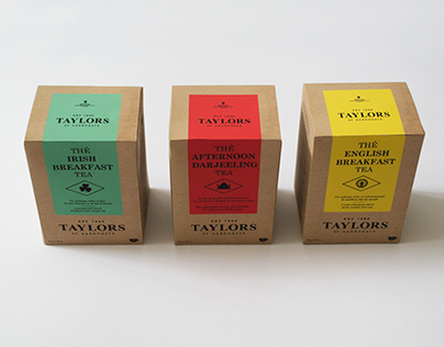 Emballage Taylors Tea - Packaging