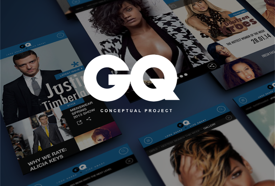GQ magazine mobile web design