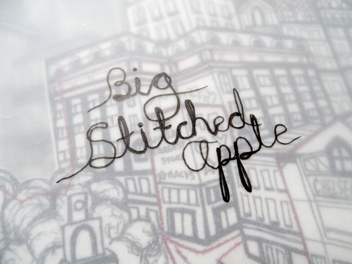 Big Stitched Apple | An interactive picture book