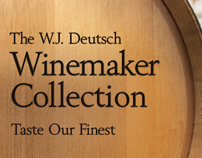W.J. Deutsch Wine Rack Header