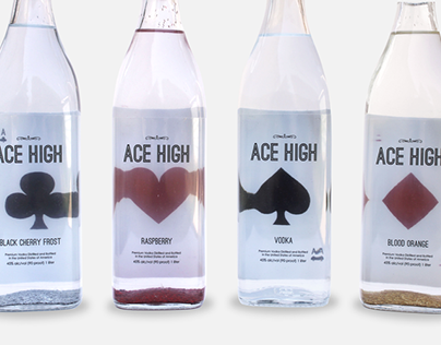Ace High Vodka Packaging