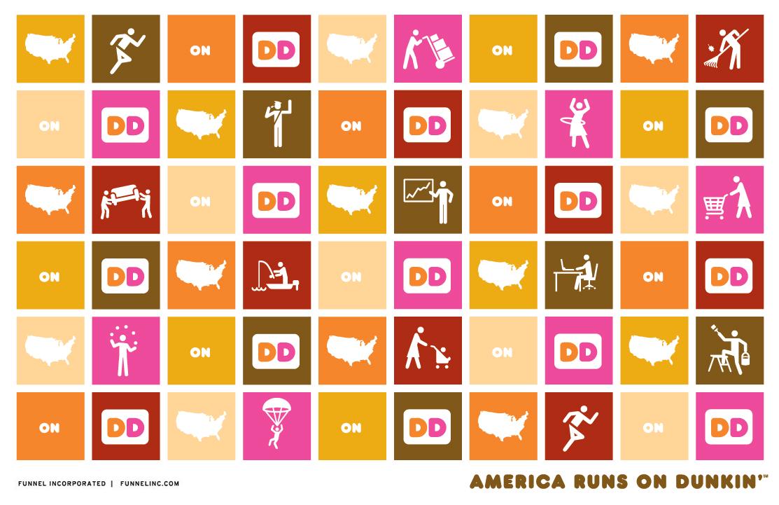 Icon Design   America Runs on Dunkin