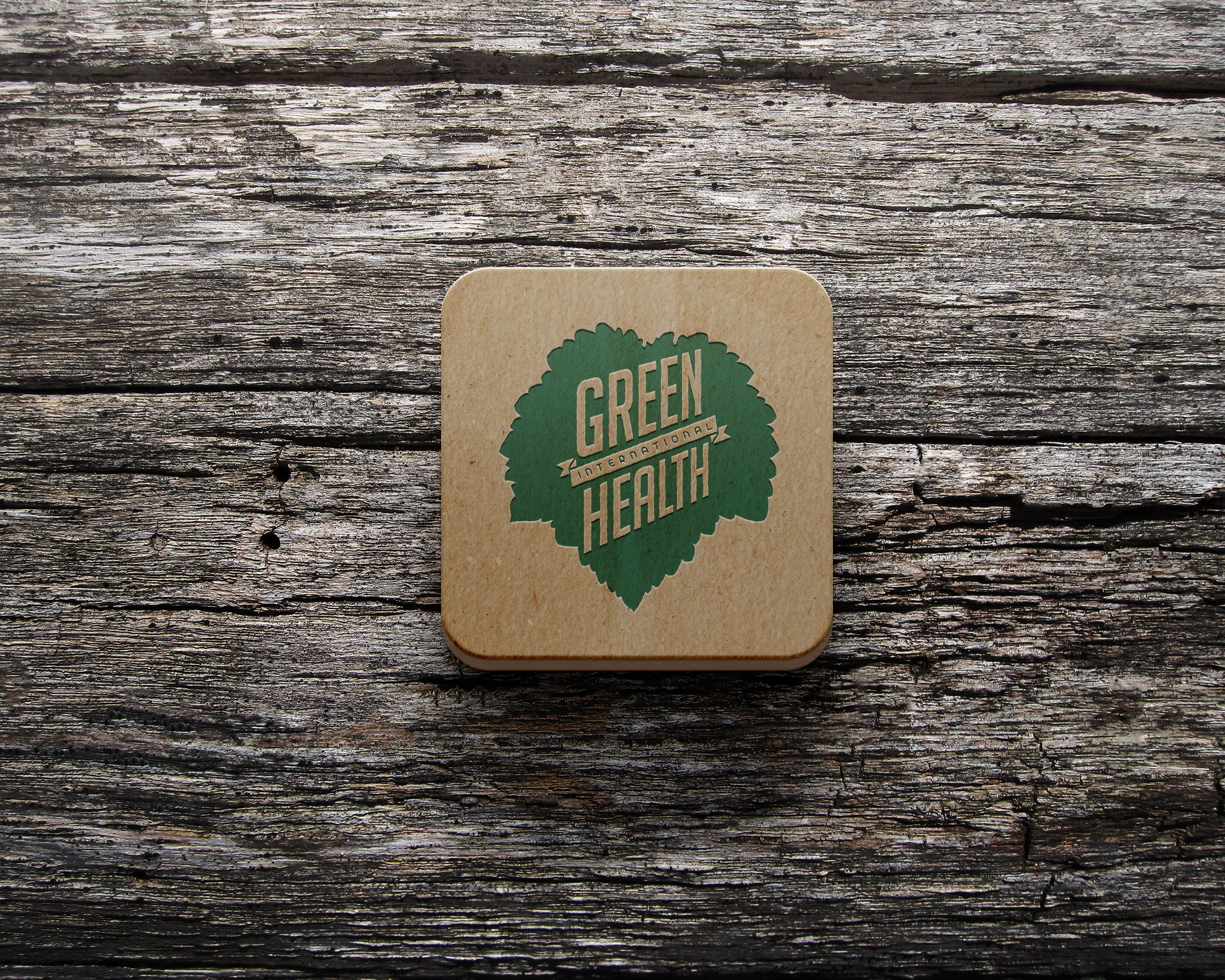 Green Health International logo design and print set