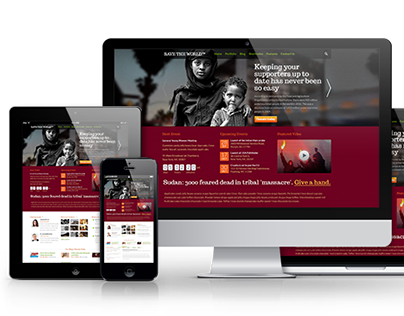 Save the World: PSD Template