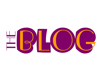 The Blob Blog logo and template design