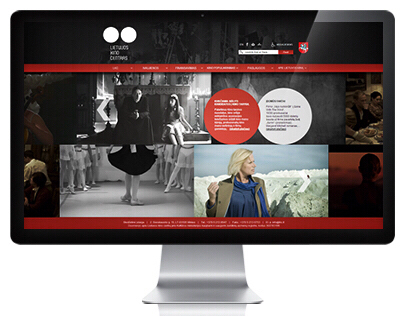 LITHUANIA CINEMA CENTER Web Page Design