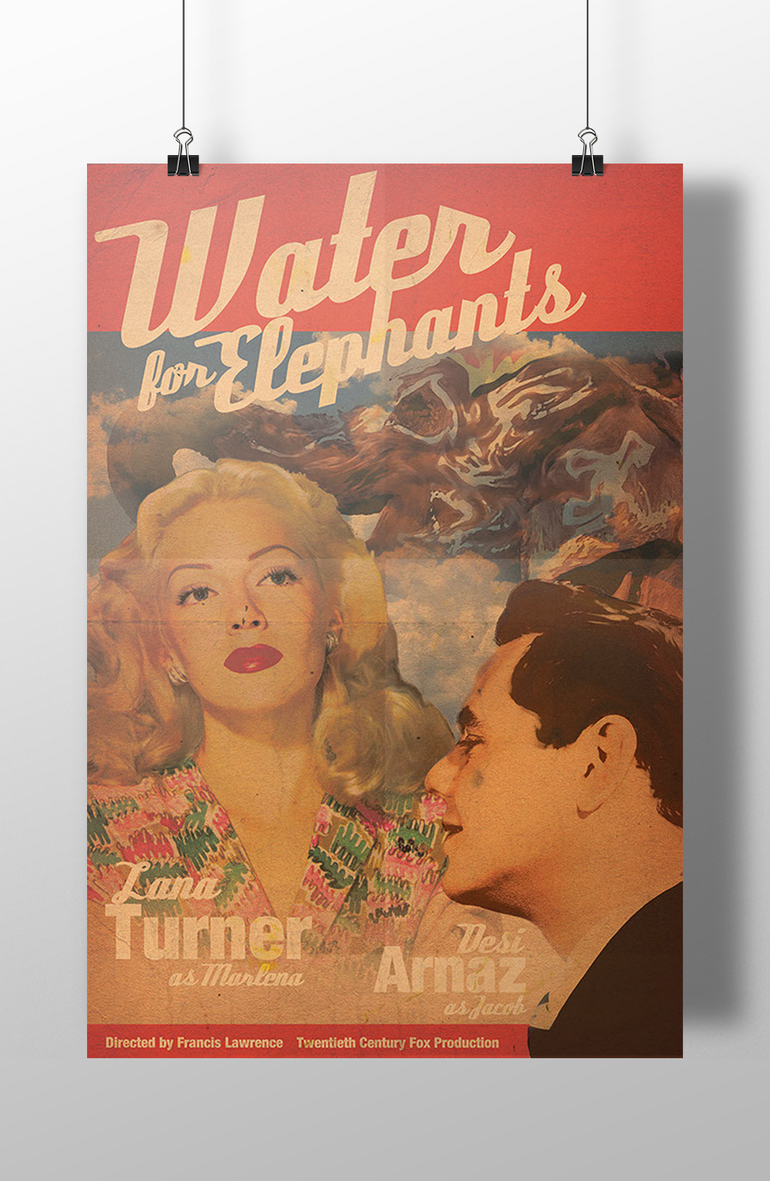 Water for Elephants Vintage Poster Design