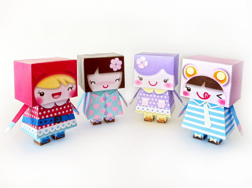 TaraDolls, DIY Kawaii Dolls Paper Toy