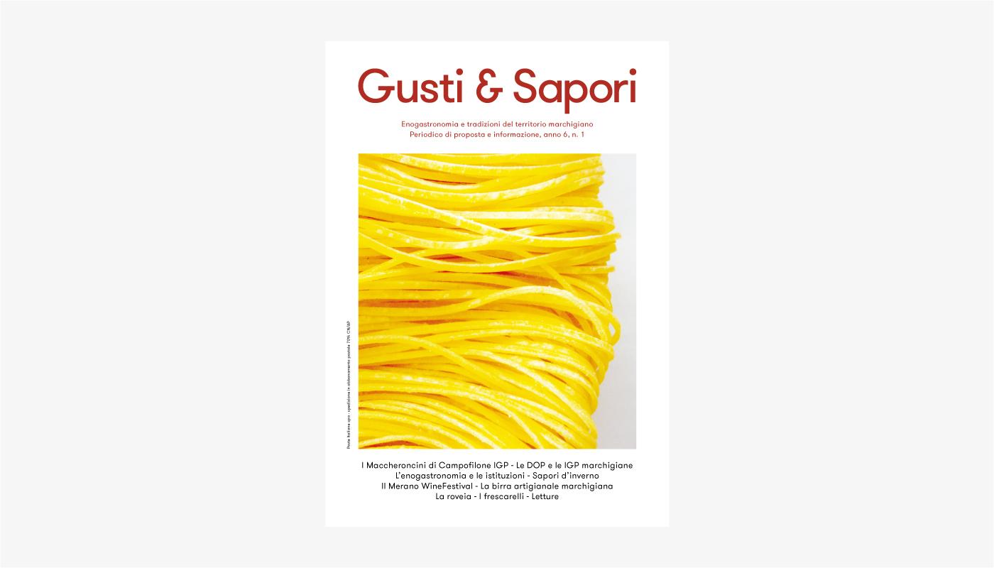 Gusti & Sapori · Identity, magazine.