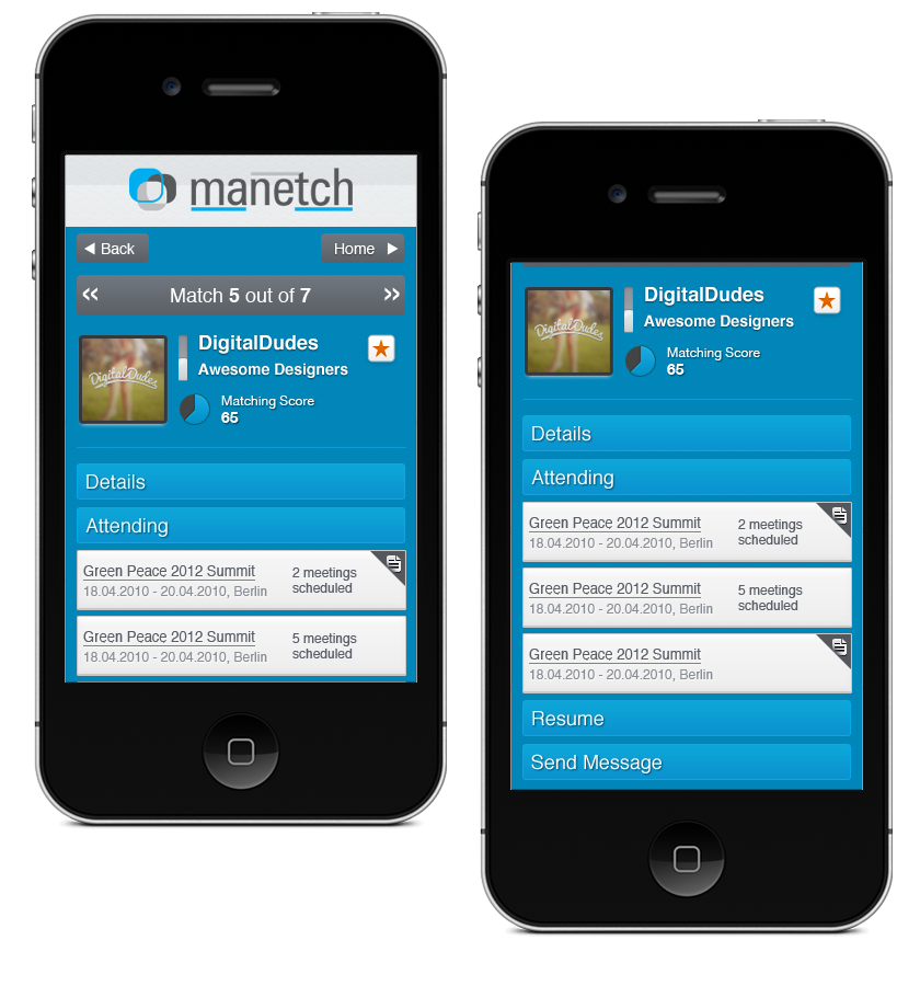 Manetch.com - Mobile Verison of Web App