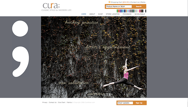 Yoga clothing e-commerce