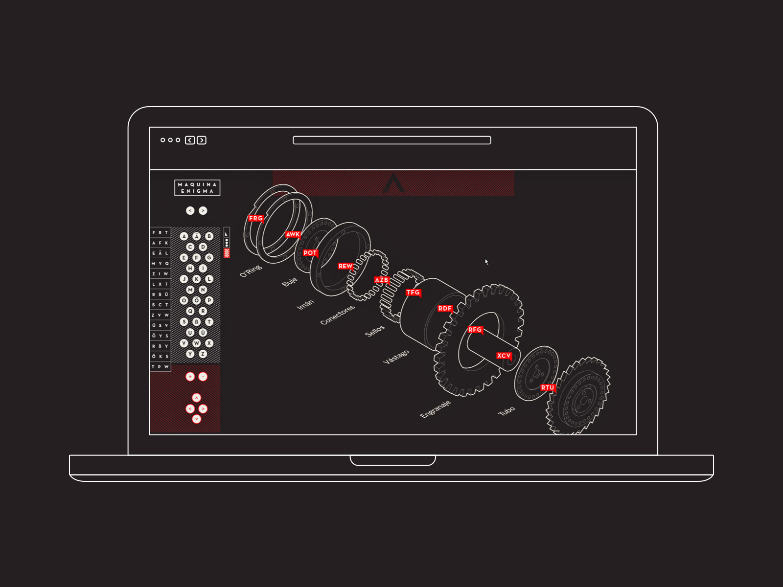 Enigma machine - Interactive website